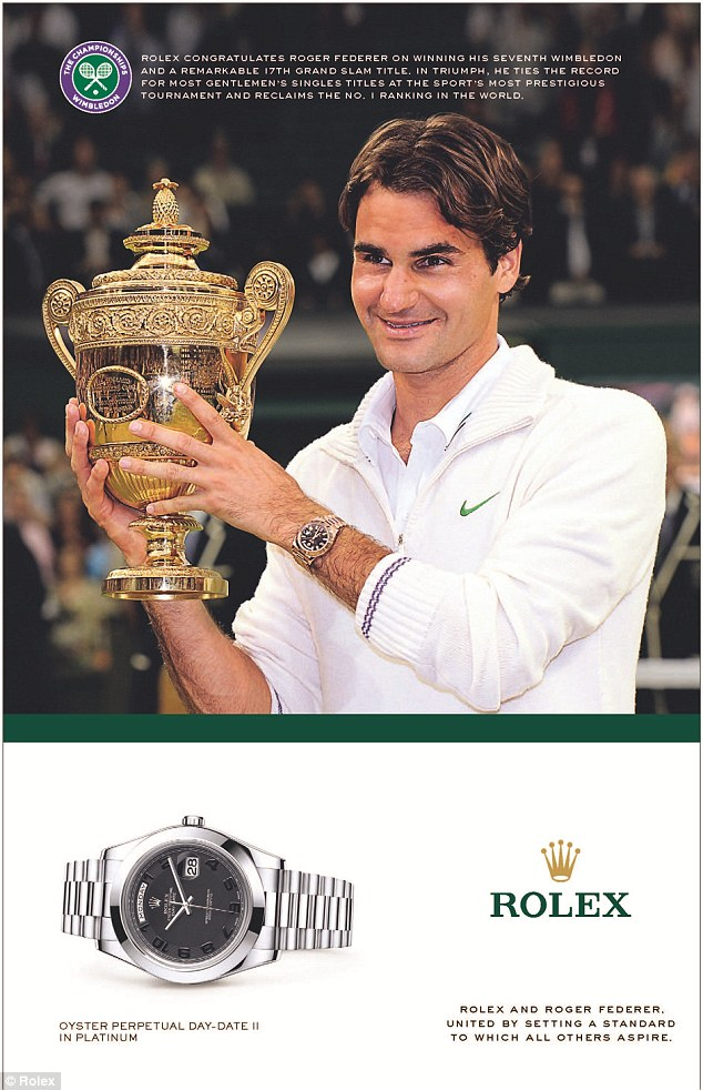 Roger Federer One Minute And Twenty Eight Seconds Of Rolex