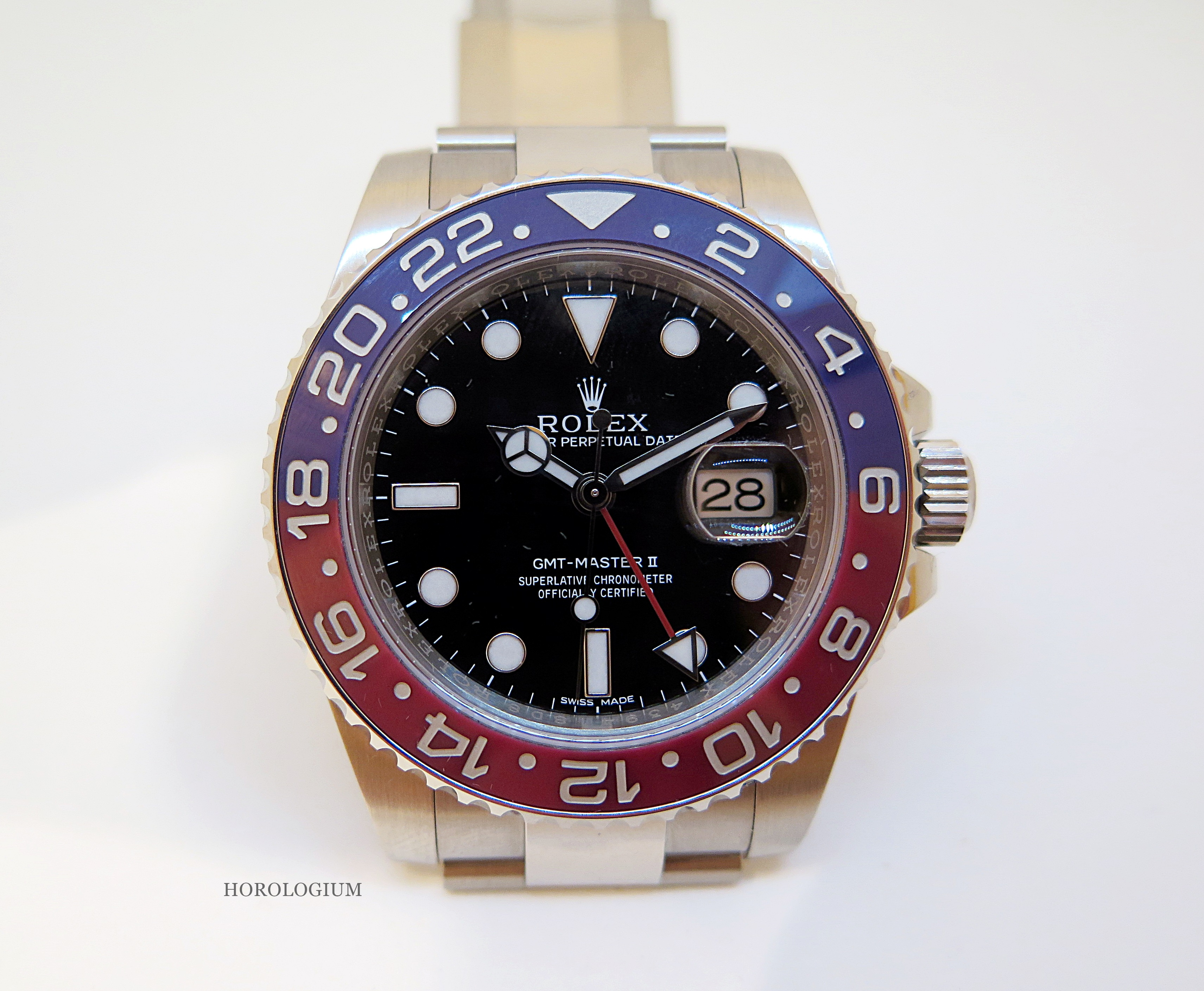 c6b99a09a56 Rolex2014GMTMasterII4. The good news from Rolex at Baselworld 2014 was that  there was a Pepsi bezel for the 2014 GMT-Master II.