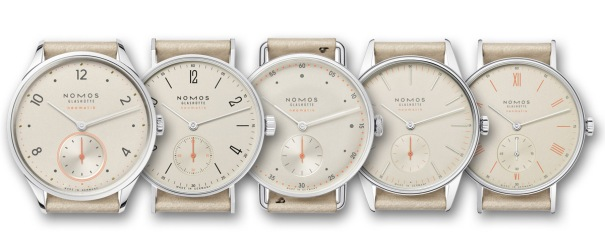 NomosNeomatikCollection15ChampagneDial1